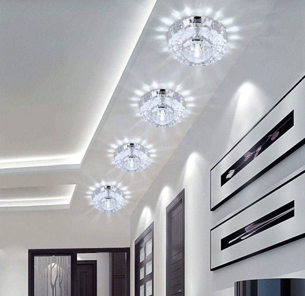 Led Decken Leuchte Kristall Glas Lampe Beleuchtung Wandleuchte Deckenlampe Weiß In Möbel Amp Wohnen Beleuchtung De Deckenlampe Deckenlampe Weiß Beleuchtung