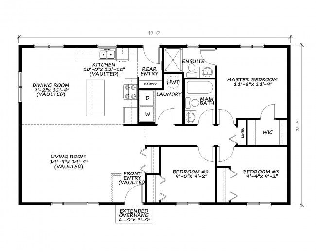 Self Contained Rtm Sold Floor Plan Slideshow Details This Home Features The Following 3 Bedrooms 2 Ful Kitchen Floor Plans Kitchen Flooring Floor Plans