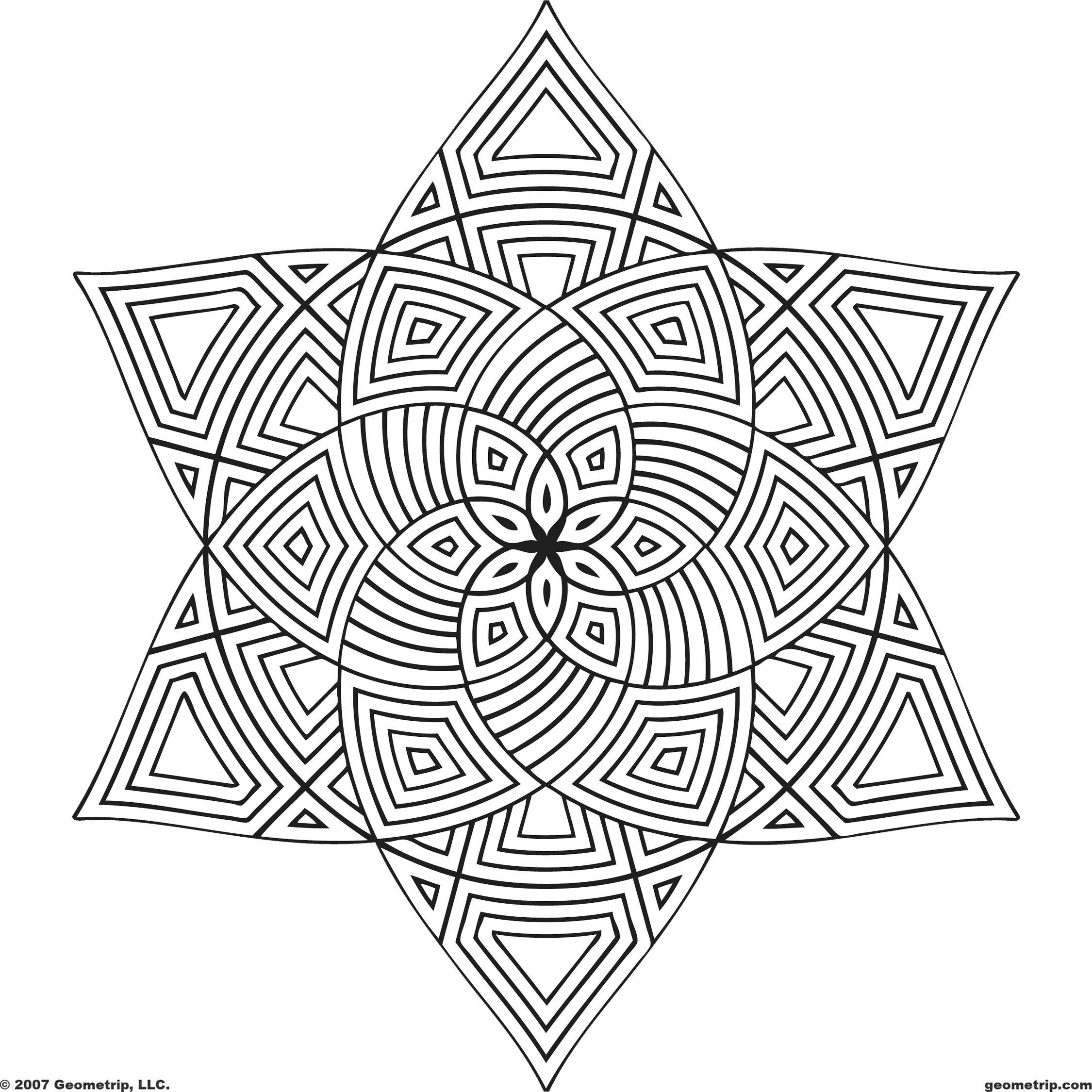 Geometrip Com Free Geometric Coloring Designs Shapes Geometric Coloring Pages Pattern Coloring Pages Mandala Coloring Pages