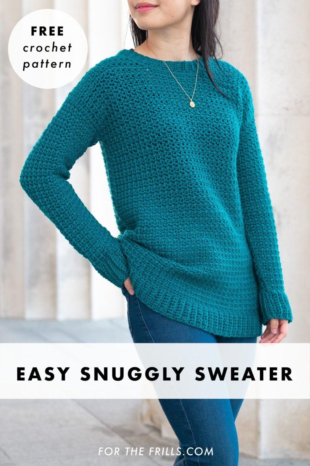 Weekend Snuggle Sweater free crochet pattern in 2020