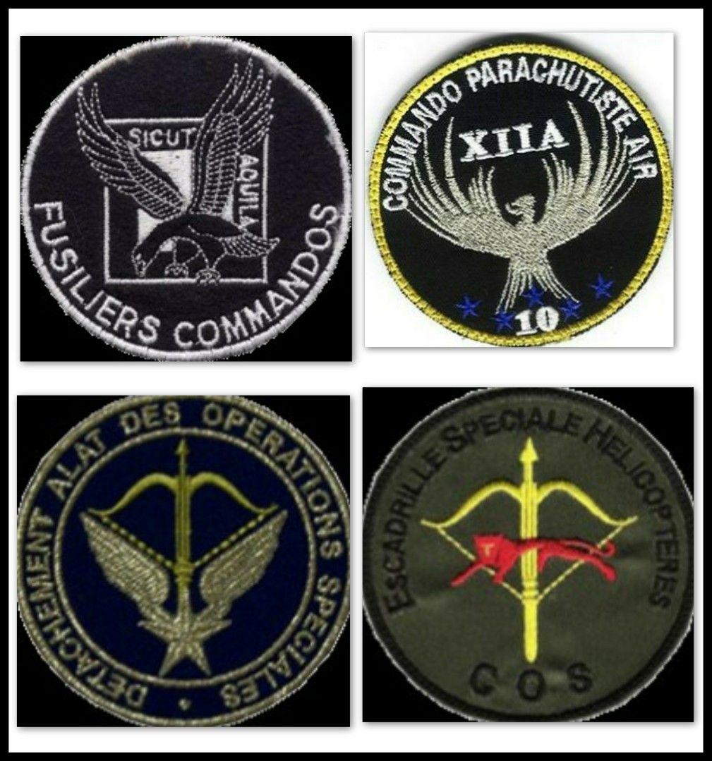 Cpa 10 Forces Spéciales Françaises Insignes Militaires Armée De L Air