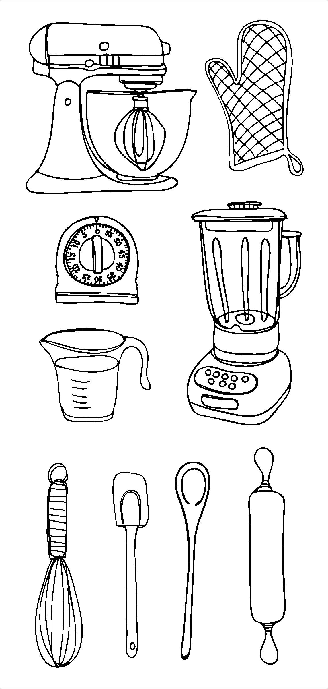 Kitchen Claudine Hellmuth Clear Stamps CHS1495-34650