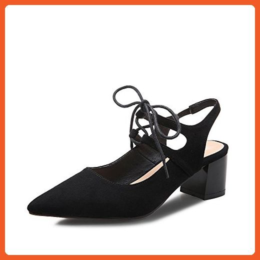 AalarDom Womens Low-Heels Solid Lace-up Patent Leather Round-Toe Court Shoes