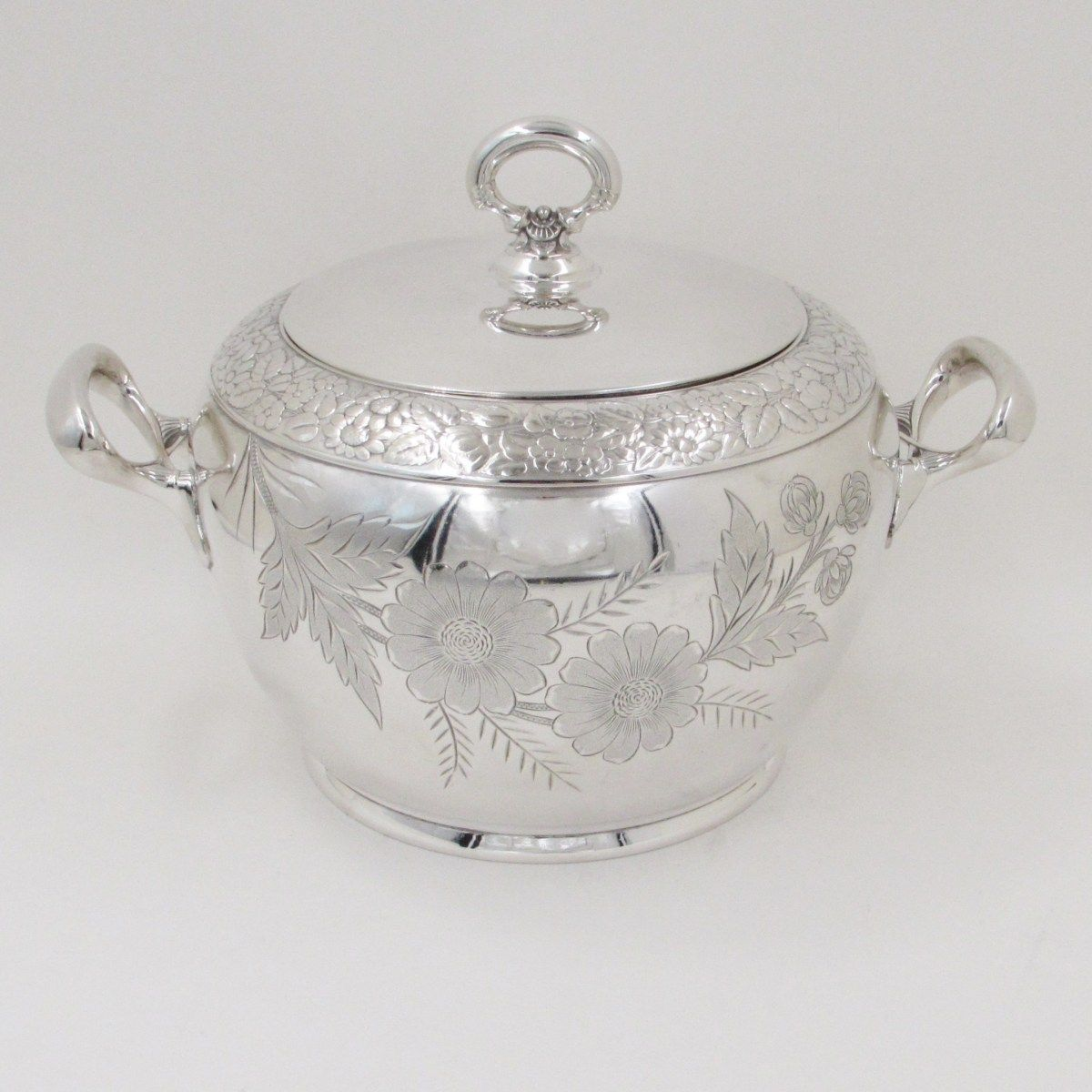 Antique Silver Plate 8'' Soup Tureen with Lid Circa 1890