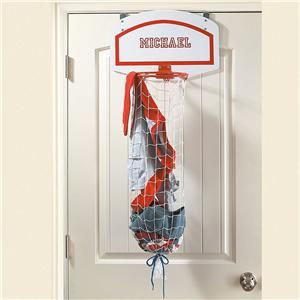 Over-the-Door Basketball Net Laundry Bag - Personalized Gifts for Kids | Lillian & Shoot Again Indoor Basketball Hoop Set. the ultimate accesory to ... Pezcame.Com