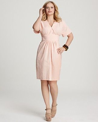 cc2b1d59ede6a Melissa Masse Plus Size Seersucker Dress