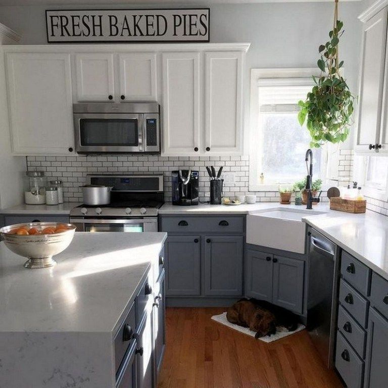 ✔42 inspiring farmhouse kitchen cabinets makeover design ideas 2 > Fieltro.Net