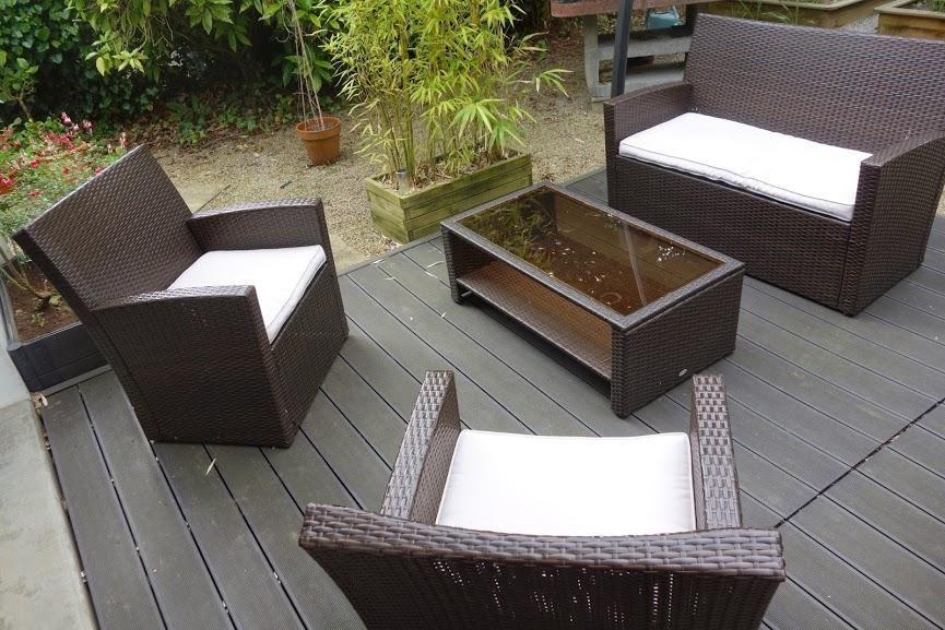 Salon De Jardin En Resine Carrefour Vieillissement Et Avis Terrasse Composite Terrasse Bois Composite Salon De Jardin