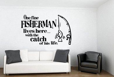 One Fine Fisherman Lives Here With The Catch Of His Life Wedding