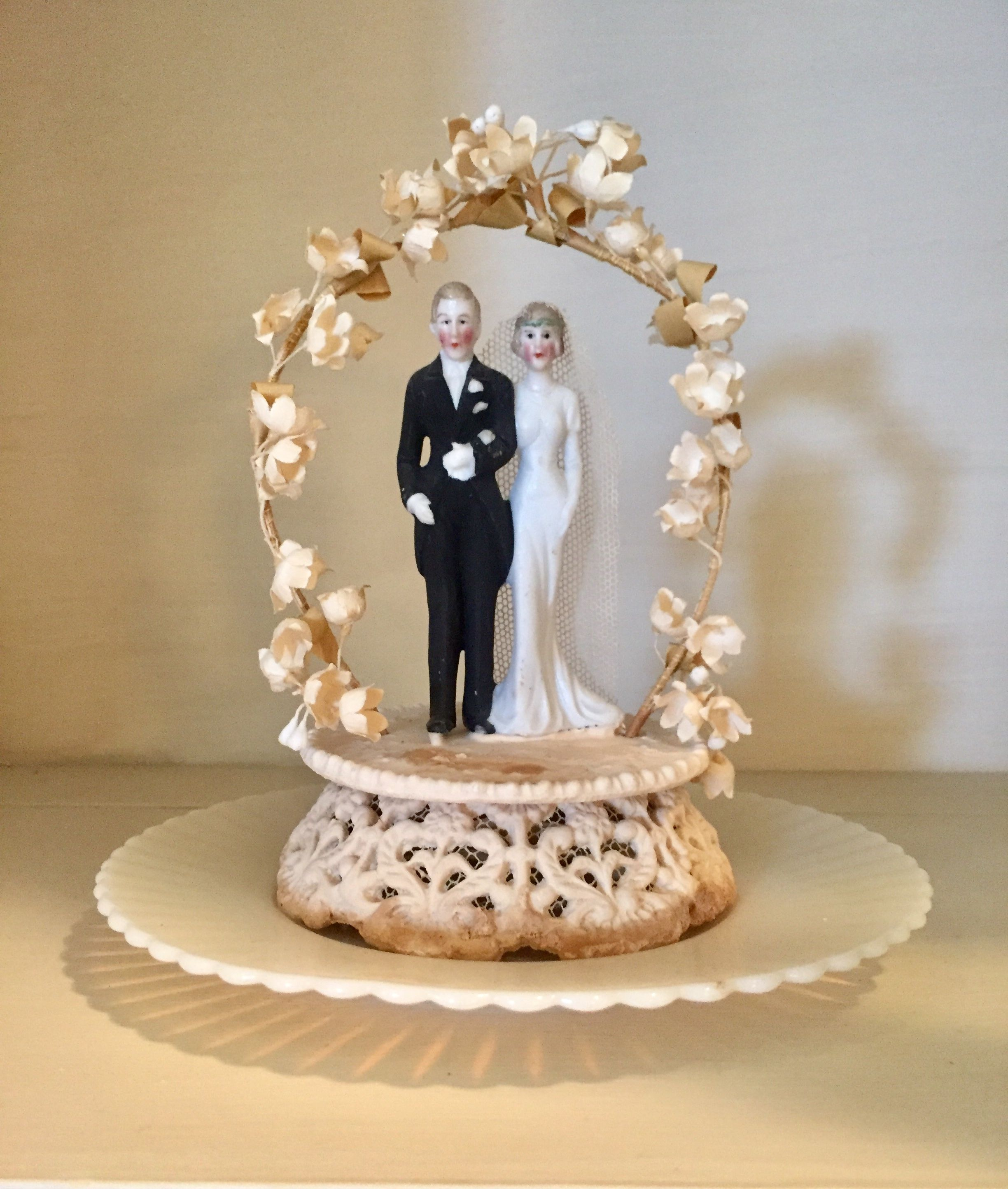 My Parents Wedding Cake Topper From 1937 Bridal Cake Topper Vintage Cake Toppers Wedding Cake Toppers