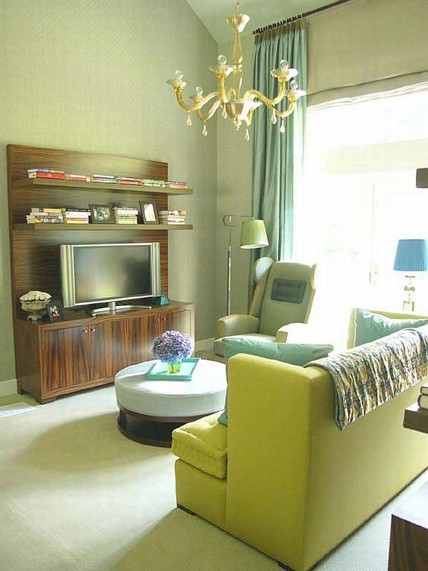 15 grüne Wohnzimmerdesignideen Interior design Pinterest