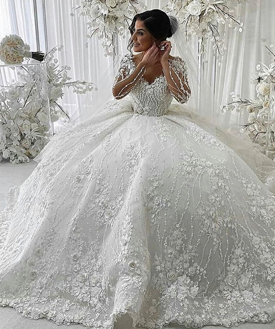 Luxus Hochzeitskleider mit Spitze Brautkleider Hochzeitskleider