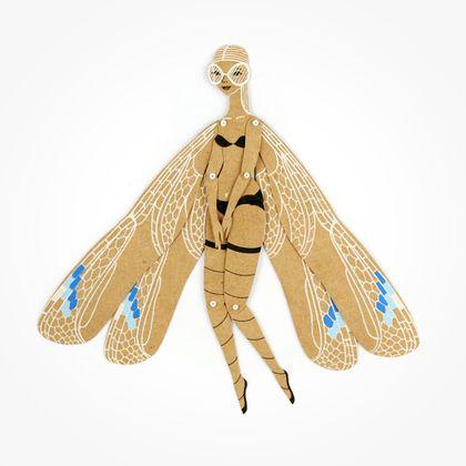 Стрекоза. Бумажная кукла с подвижными частями – заказать ...