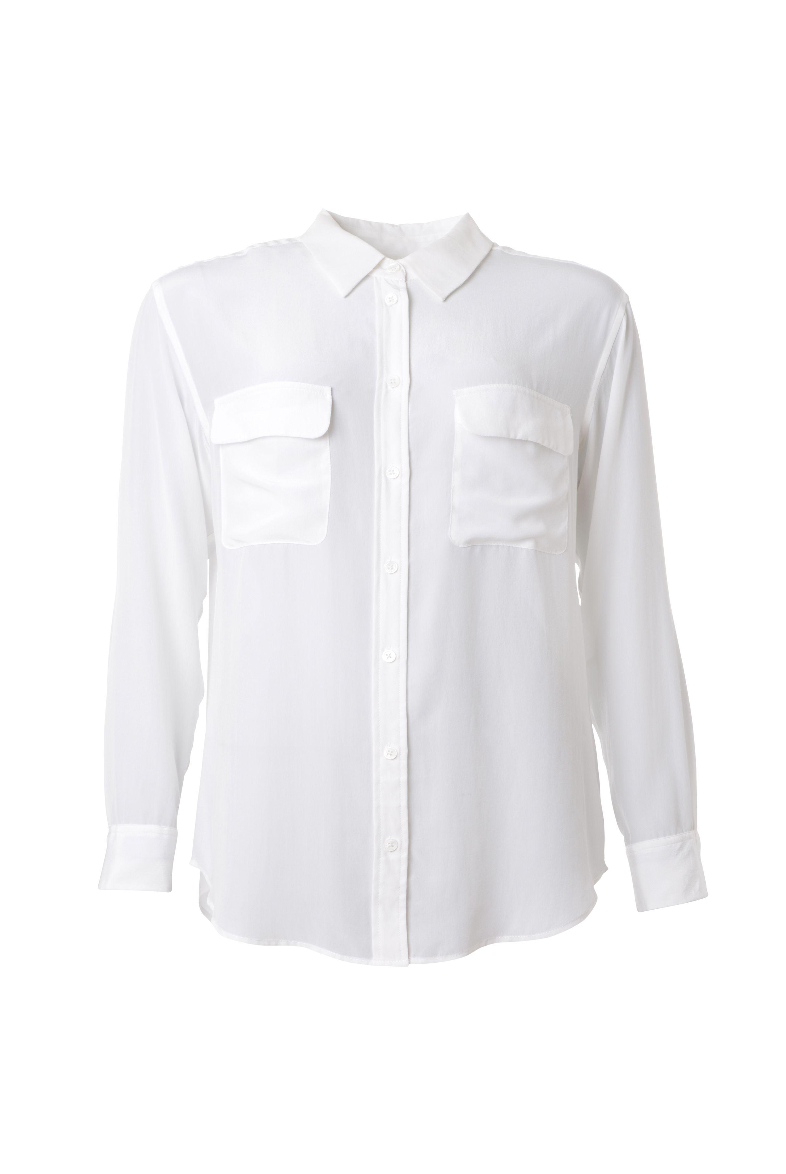 Signature Hemdbluse aus traumhafter, vorgewaschener Seide des Kultlabels Equipment jetzt neu auf www.fashionvestis.com.