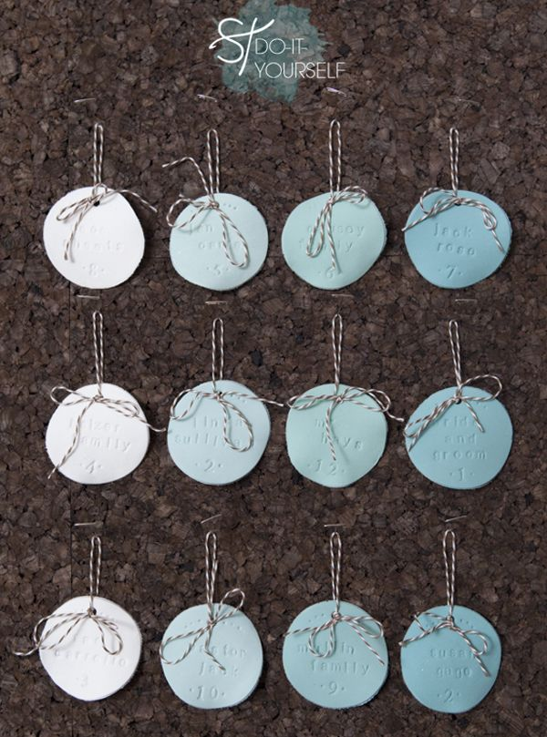 Diy pinterest clay martha stewart crafts and ornament easy diy tutorial on how to make these adorable hand stamped ombre clay seating cards using marthastewart crafting clay solutioingenieria Choice Image