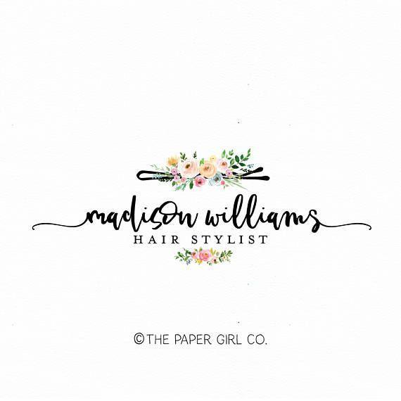 Hair Clip Logo Hair Stylist Logo Hair Salon Logo Beauty Shop