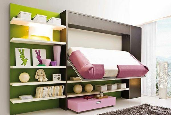Schrankwand mit klappbett wohnideen f r praktische for Kinderzimmer schrankwand