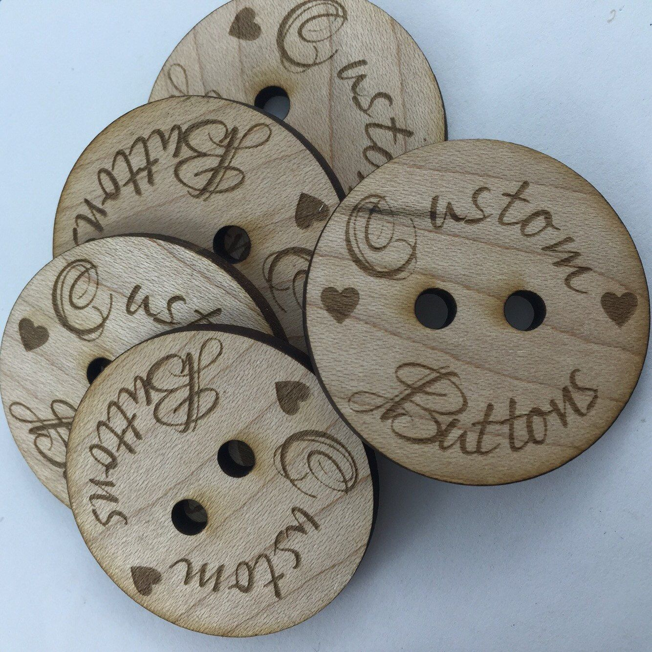 10 Custom buttons/1 inch/Solid Wood