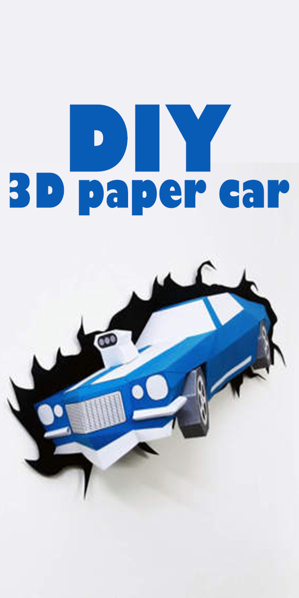 In This Diy 3d Paper Car You Get Pdf Templates With Detailed