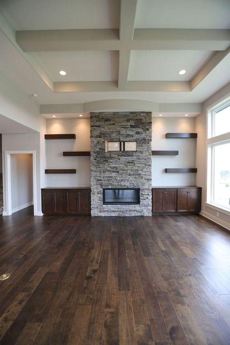 55 Brilliant Floating Shelves Design Fur Wohnideen In 2020 Fireplace Shelves Living Room Decor Rustic Living Room Remodel