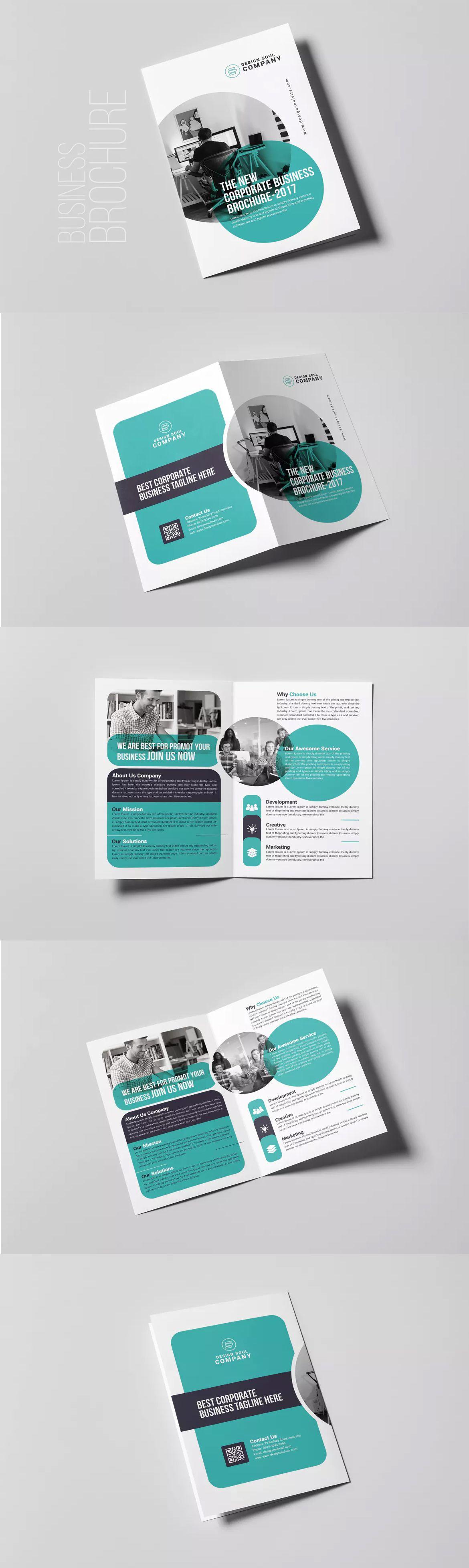 Bifold Brochure Template PSD | Corporate | Pinterest | Broschüren ...
