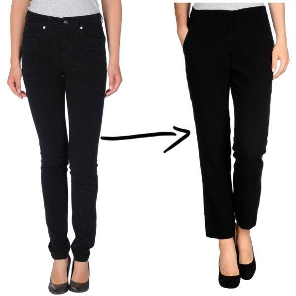 3. Si al trabajo irías con un pantalón de gabardina, con corte de jean... a la entrevista podés ir con uno con corte de vestir.