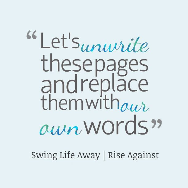 Swinging life rise against