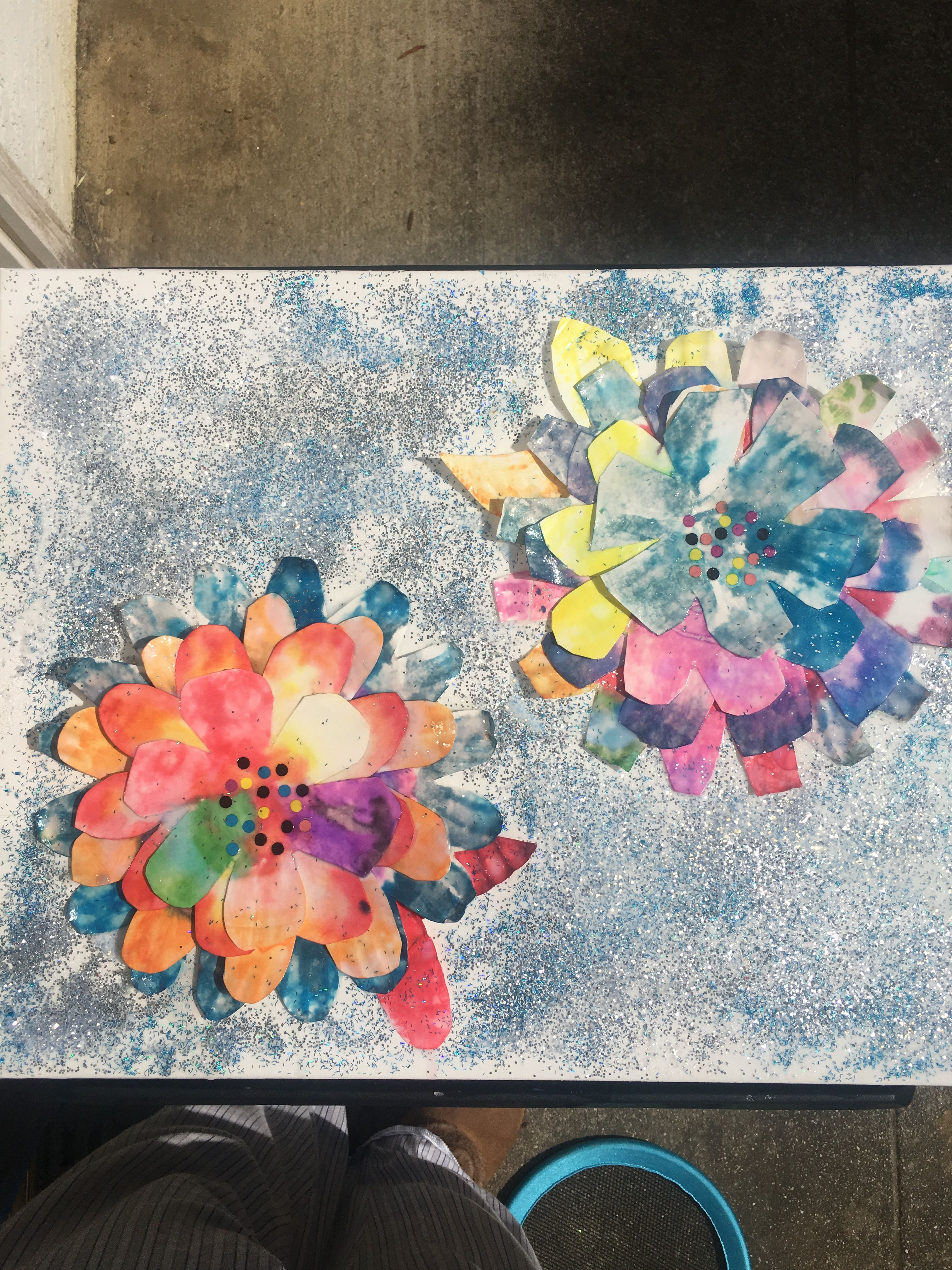 My Kids Completed The Pretty Flowers In At School I Glued Them To