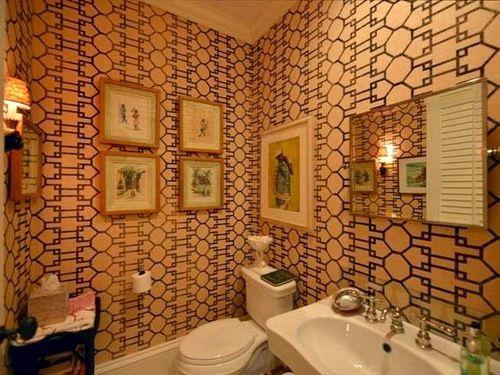 Prep Classic In Lyford Cay Small Bathroom Bathroom Powder Room