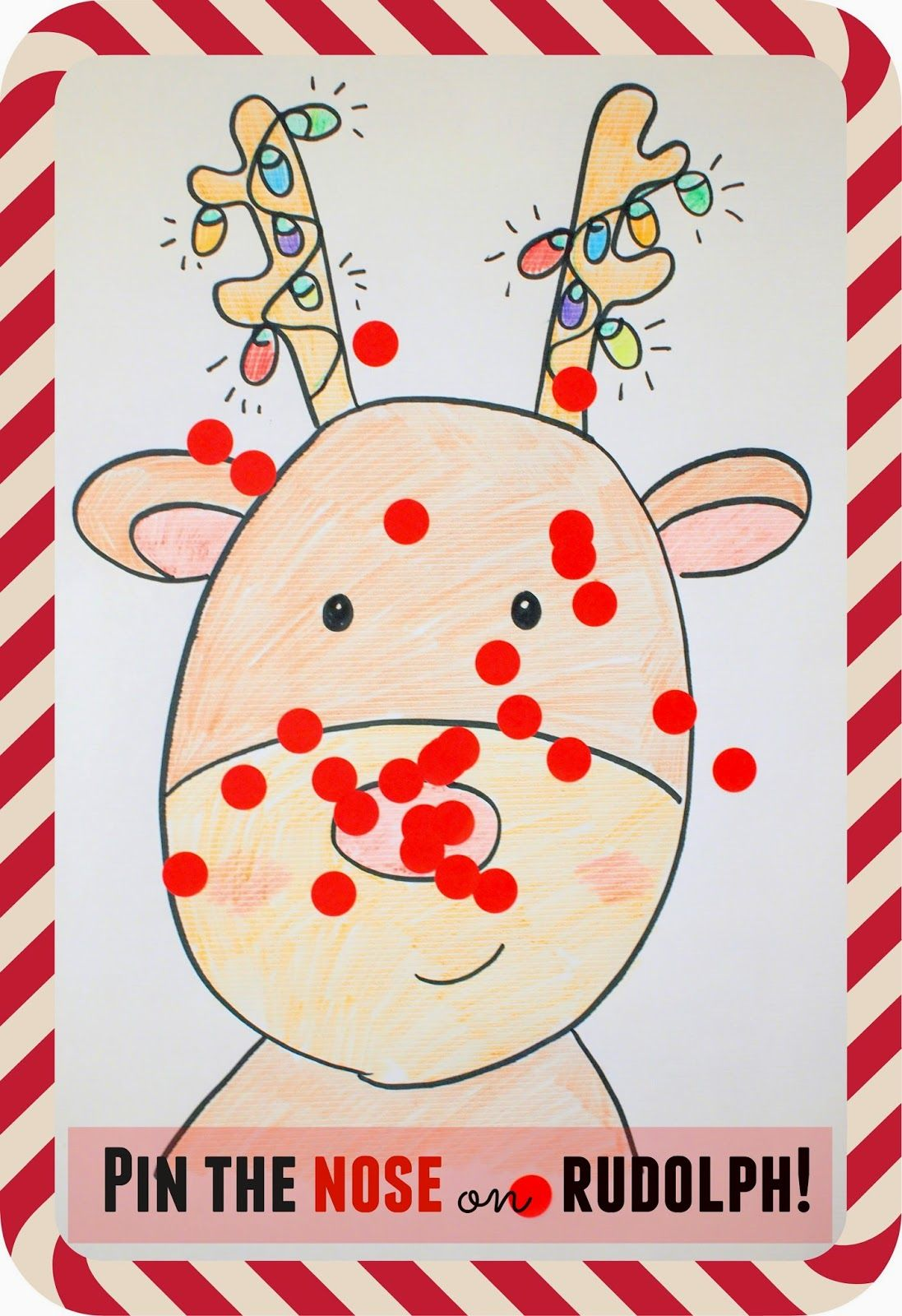 Pin the Nose on Rudolph Game | Kids: Holidays✦Seasons✦Birthdays ...