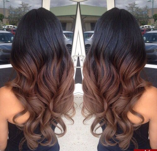 Girl With Black Brown Long Hair Haircuts For Wavy Hair Brown Ombre Hair Balayage Hair
