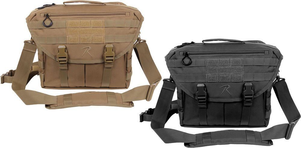 Tactical Laptop Shoulder Bag Covert Dispatch MOLLE Military Army Range   Rothco  MessengerShoulderBag 69bd42f80b9