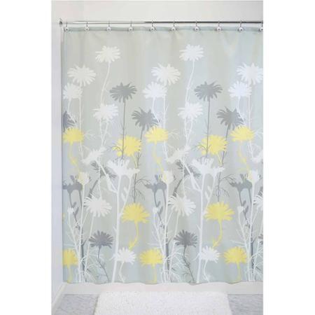 Interdesign Daizy Shower Curtain Walmart Com Yellow Shower Curtains Gray Shower Curtains Fabric Shower Curtains