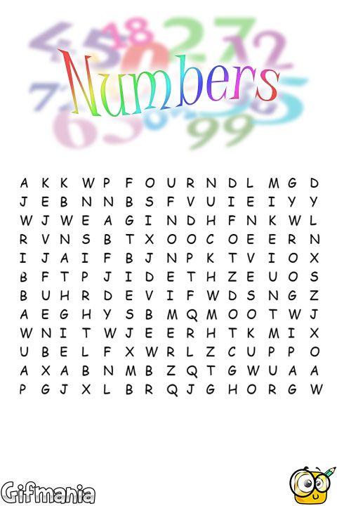 sopa de letras de números en inglés   Ingles   Pinterest