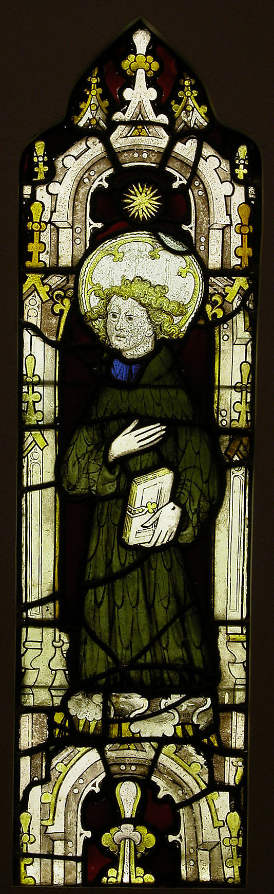 Stained Glass Panel with an Angel. Date: ca. 1450. England.