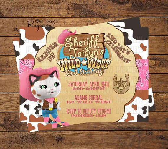 Sheriff Callie Invitation by RaynebowShoppe on Etsy 100 Rylee