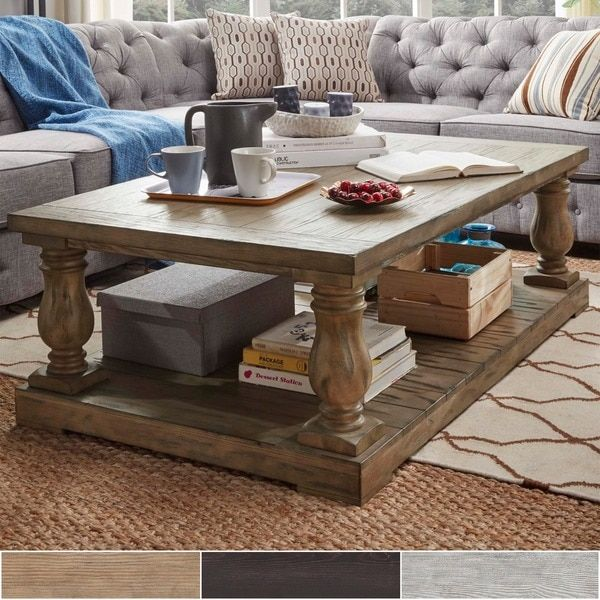 SIGNAL HILLS Edmaire Rustic Baluster 55inch Coffee Table 67000
