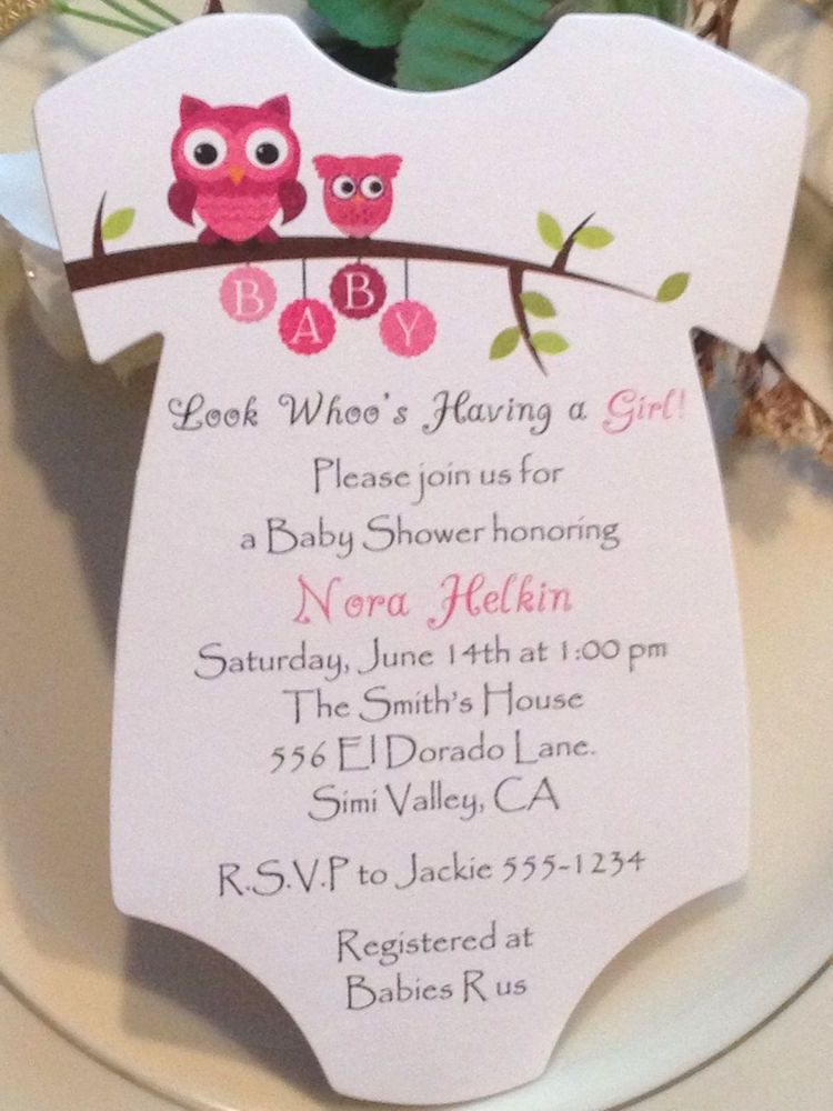 baby shower invitation wording for bringing diapers%0A Owl Onesie Baby Shower Invitation  For Boy Or Girl
