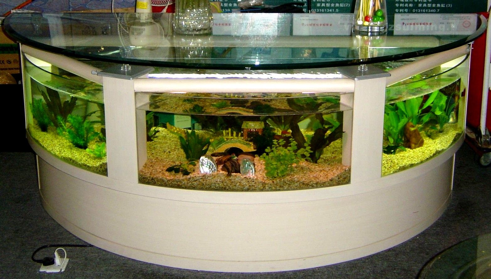 Living room pictures · the aquarium is named table aquariums using the concept desainn more freely to be enjoyed
