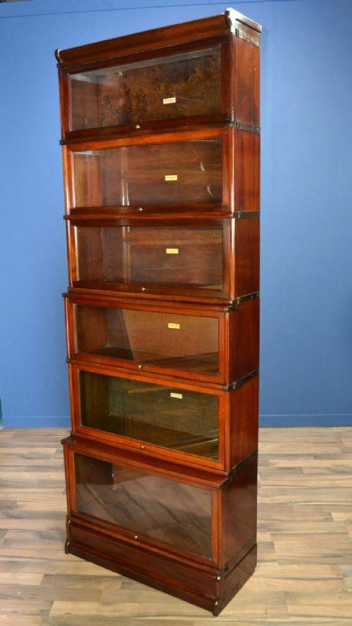 Mahogany Globe Wernicke Barristers Bookcase Circa 1900