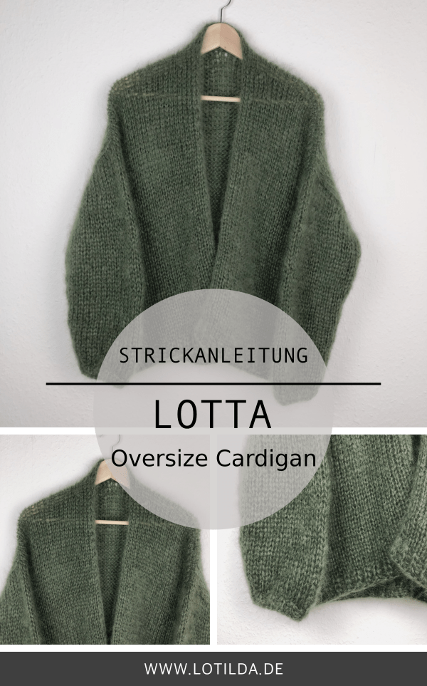 Photo of Strickanleitung LOTTA Oversize Cardigan – Strickjacke mit Halsblende • LOTILDA