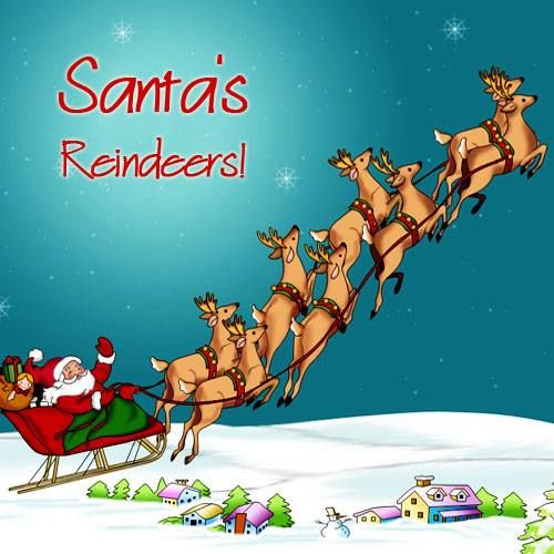 Santa Has Eight Reindeers Do You Know All Of Their Names Well