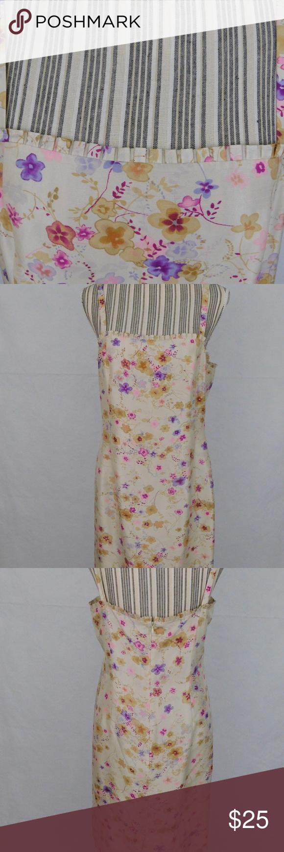 Loft Silk Floral Dress Pleat Detail Hem Gently worn Great condition