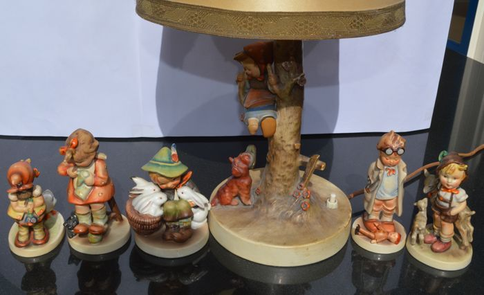 Hummel goebel oude beeldjes hummel tafellamp tmk originele