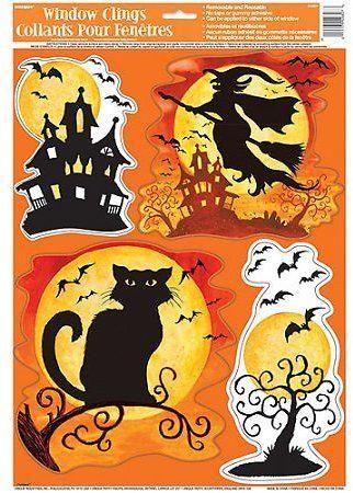 Spooky Hollow Halloween Window Decals Deal On The Web Pinterest - halloween window clings