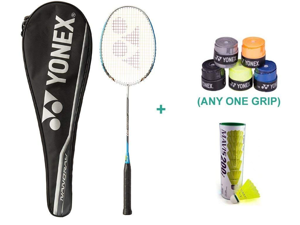 Buy Yonex Nanoray D1 Racquet With One Grip Online At Low Prices In India Amazon In Yonex Badminton Racket Badminton