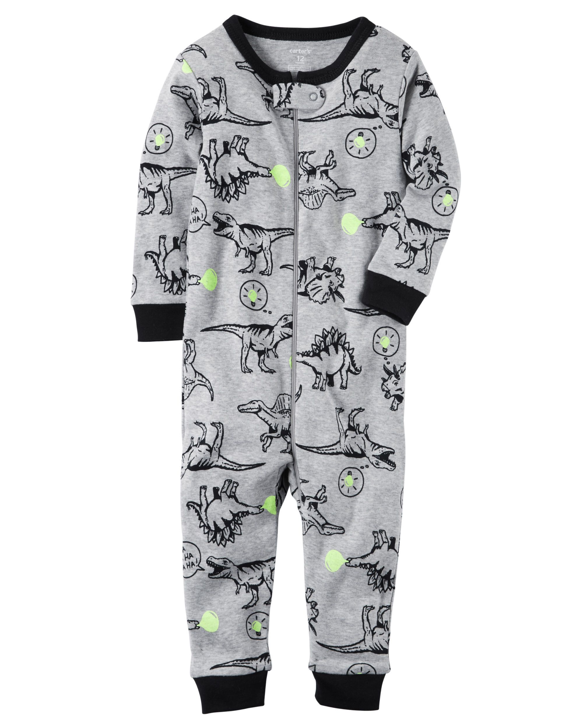 b243d892e3d1 1-Piece Snug Fit Cotton Footless PJs