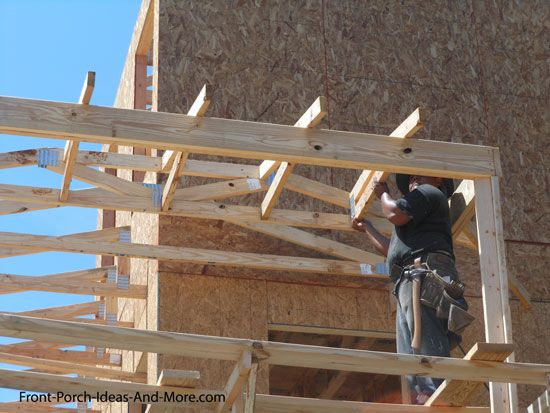Building A Porch Roof Porch Roof Framing Building A Porch Porch Roof House Roof
