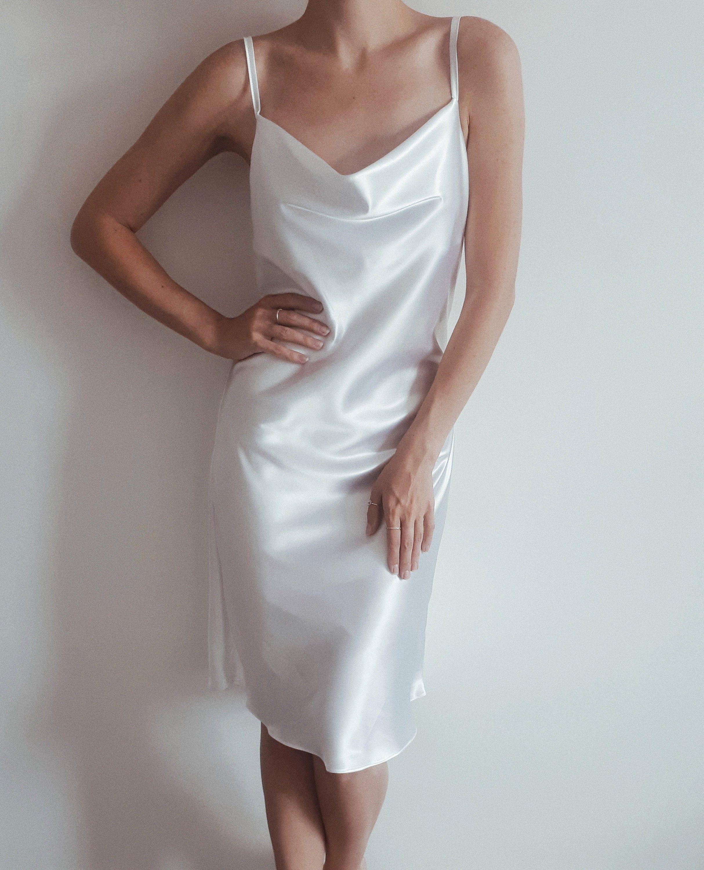 Silk Satin Midi Dress White Cowl Neck Slip Dress Boudoir Etsy White Slip Dress White Short Dress White Midi Dress [ 3000 x 2428 Pixel ]