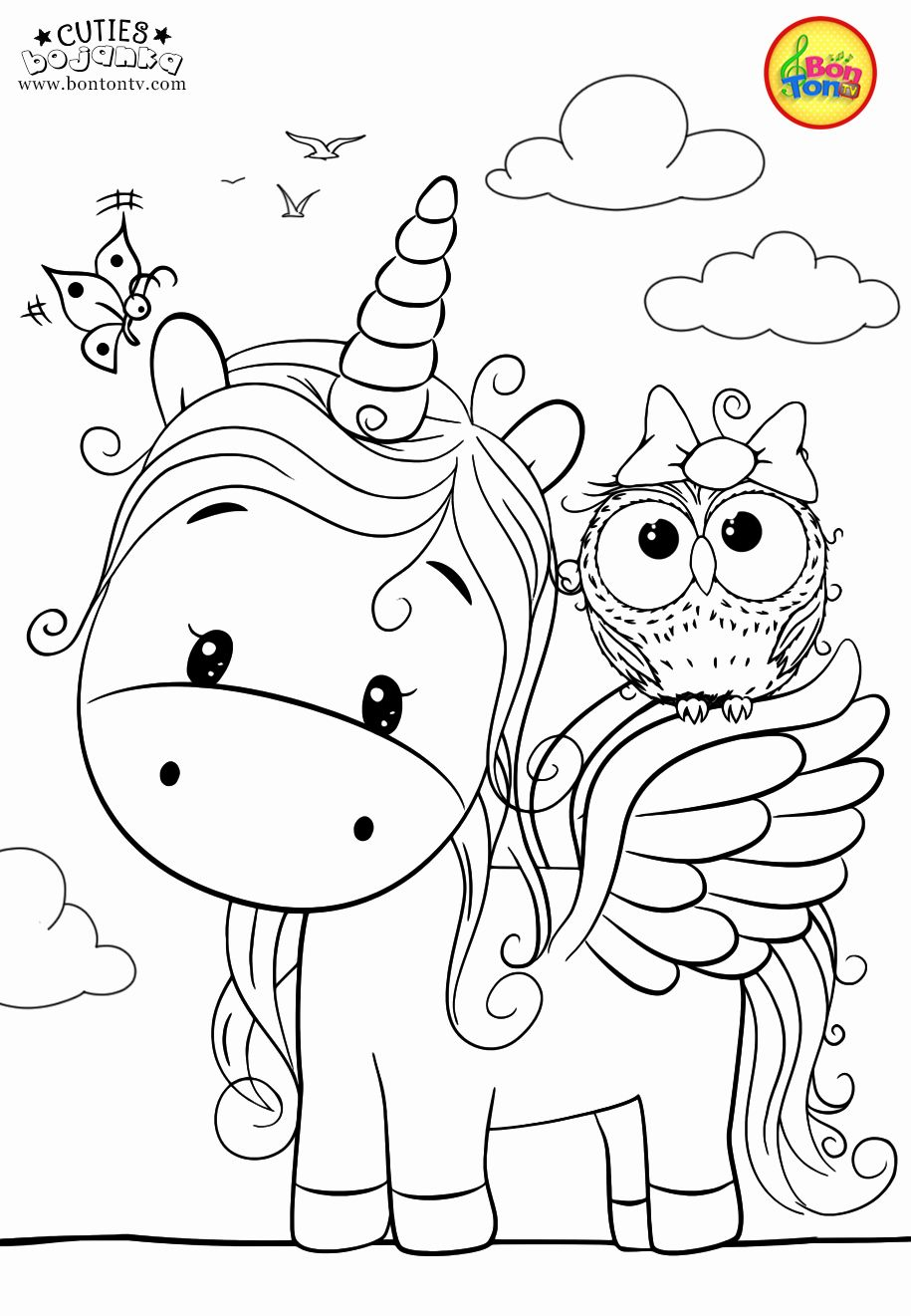 Free Cute Animal Coloring Pages Unique Cuties Coloring Pages For Kids Free Preschool Pr Coloring Pictures For Kids Unicorn Coloring Pages Animal Coloring Books